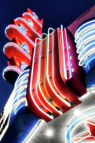 Photograph - Texas Neon Dallas Texas 040219 by Rospotte Photography