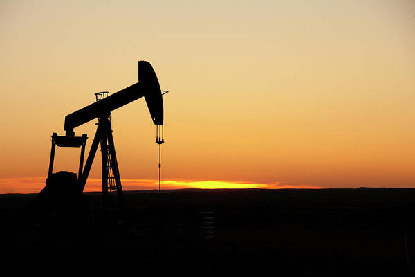 Silhouette Photograph - Texas Oil Well by Clickhere