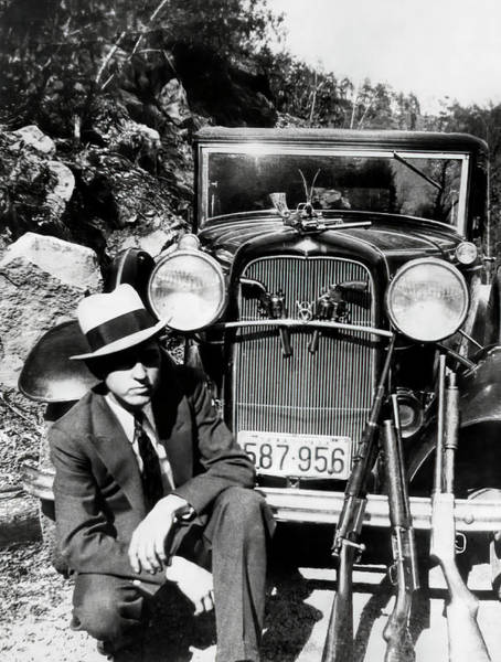 Wall Art - Photograph - Texas Outlaw Clyde Barrow And Arsenal C. 1933 by Daniel Hagerman
