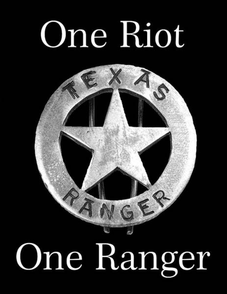 Wall Art - Digital Art - Texas Rangers Motto 2 - T-shirt by Daniel Hagerman