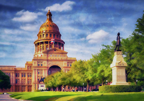 Painting - Texas State Capitol by Andrea Mazzocchetti