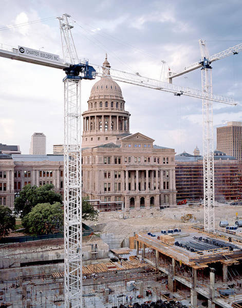 Wall Art - Photograph - Texas State Capitol Extension Construction I I by Jim Smith