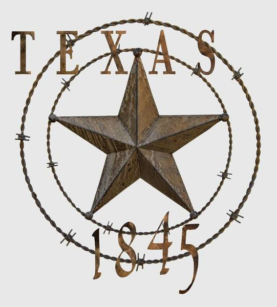 Wall Art - Digital Art - Texas Statehood Star - T-shirt by Daniel Hagerman