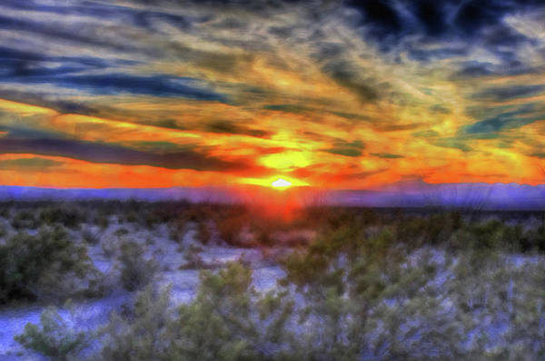 Painting - Texas Sunset - 01 by Andrea Mazzocchetti