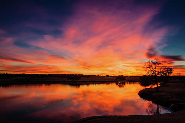 Glen Photograph - Texas Sunset by M. Magee Photography