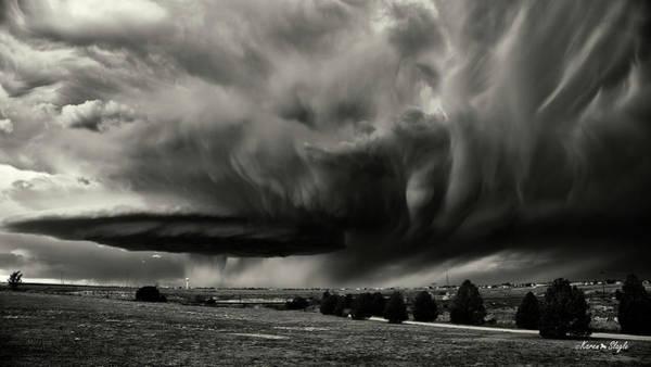 Photograph - Texas Super Cell by Karen Slagle