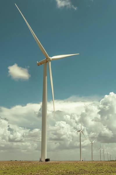 Texas A Photograph - Texas Wind Farm by Carol Wood