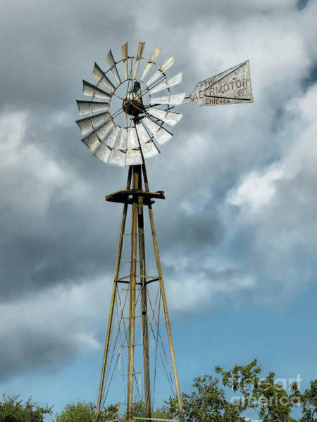 Hillside Wall Art - Digital Art - Texas Wind Mill by Elijah Knight