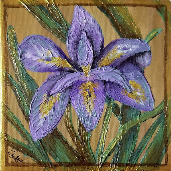Wall Art - Painting - Textured Iris by Elaine Hodges