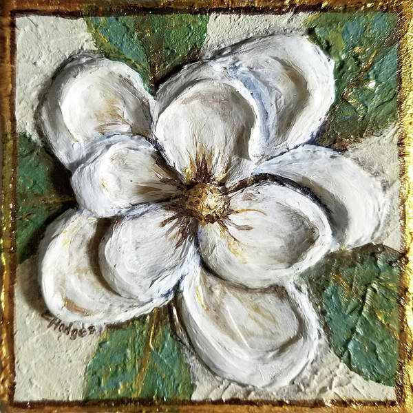 Wall Art - Painting - Textured Magnolia by Elaine Hodges