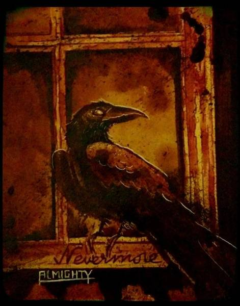 Serial Killer Painting - Th Raven - Nevermore by Ryan Almighty