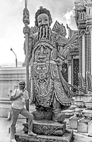 Wall Art - Photograph - Thai Bodyguard Bw by Steve Harrington