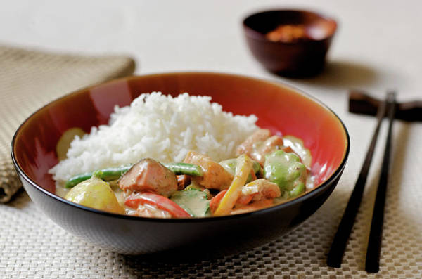 Jasmine Photograph - Thai Curry With Fish, Vegetables, And by Nightanddayimages