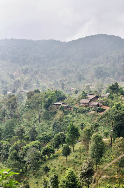 Tribe Photograph - Thai Hill Tribe Village by Oneclearvision