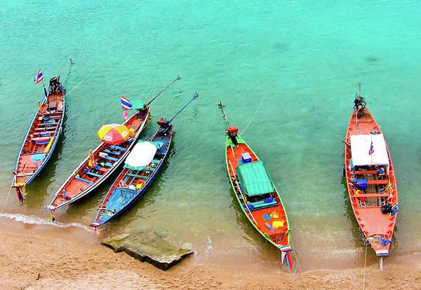 Phi Photograph - Thai Longtails by Adam Jeffery Photography
