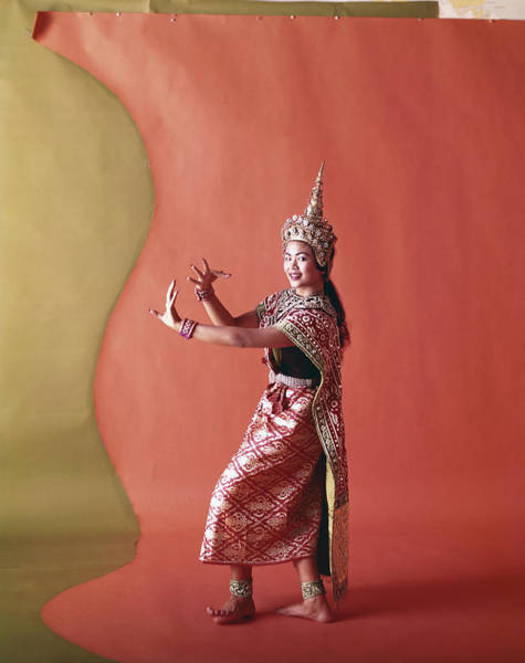 Photograph - Thai Woman Dancing In Traditional by Tom Kelley Archive