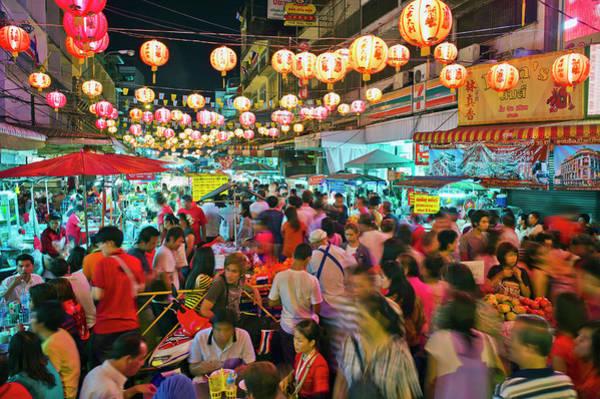 Chinese New Year Photograph - Thailand, Bangkok,chinatown,chinese New by Martin Puddy