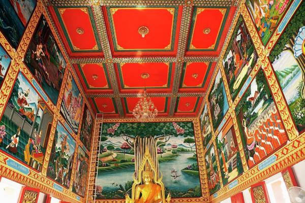 Thailand Photograph - Thailand, Hua Hin, Interior Of Wat Khao by Wilfried Krecichwost