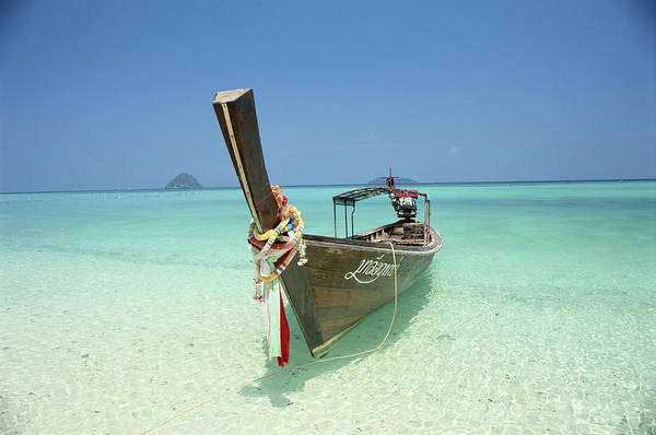 Phi Photograph - Thailand, Phi Phi Islands, Longtail by A & L Sinibaldi