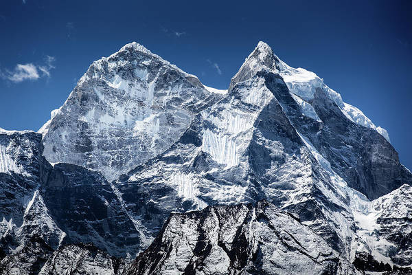 Khumbu Wall Art - Photograph - Thamserku Peaks by Presented By Zolashine