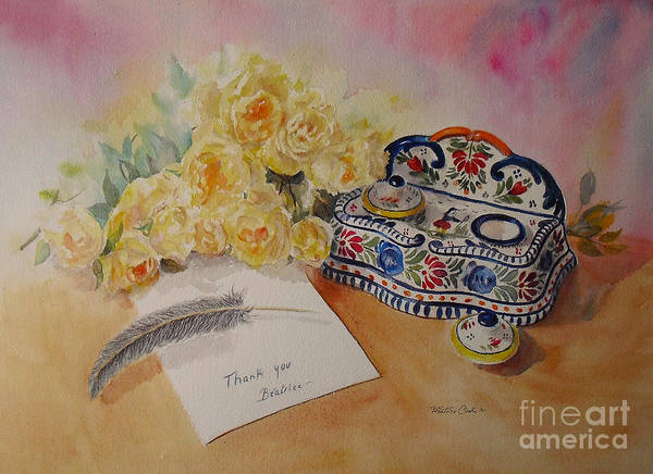 Painting - Thank You by Beatrice Cloake