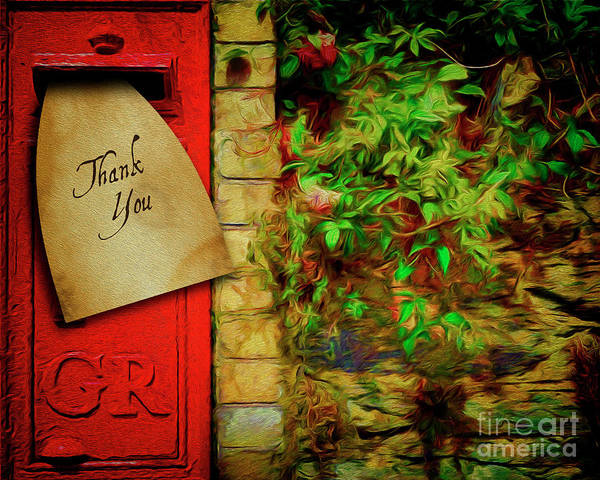 Digital Art - Thank You by Edmund Nagele