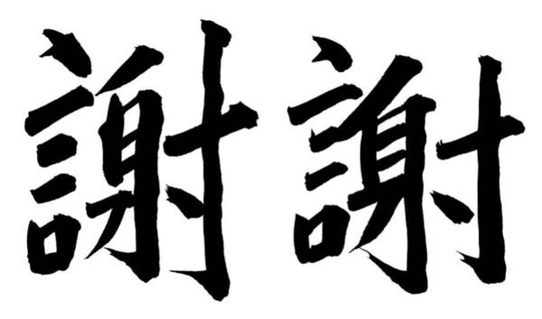 Calligraphy Photograph - Thank You In Chinese by Blackred