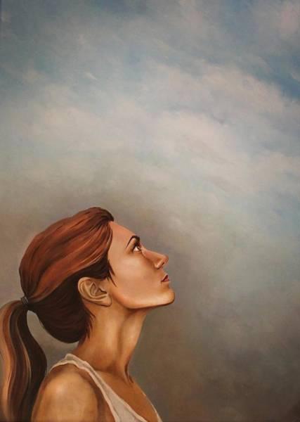 Selfportrait Painting - Thank You by Nadya Ya