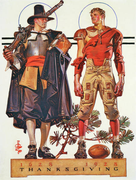 Wall Art - Painting - Thanksgiving 1628-1928 - Digital Remastered Edition by Joseph Christian Leyendecker