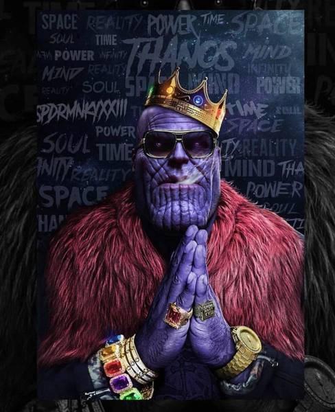 Wall Art - Digital Art - Thanos by Geek N Rock