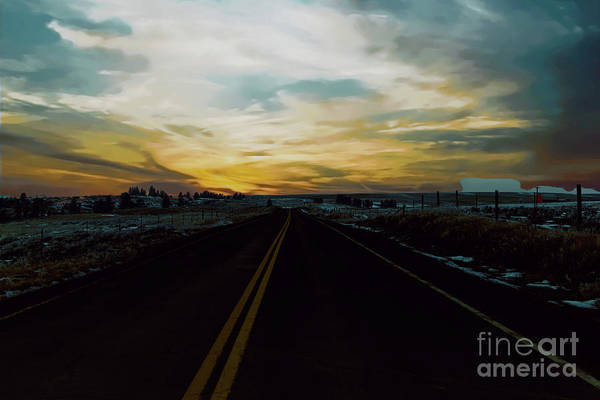 Wall Art - Photograph - That Long Lonely Road by Jeff Swan