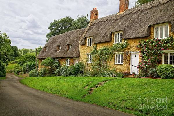 Photograph - Thatched Cottages In Northamptonshire by Martyn Arnold