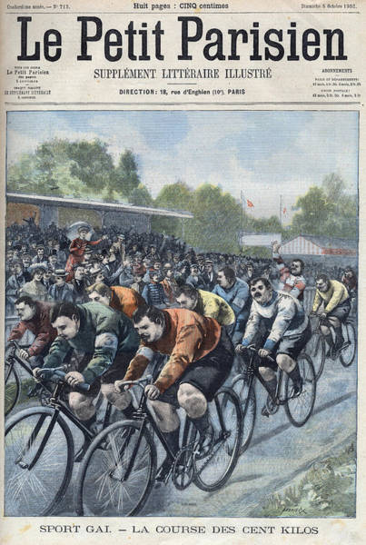 Adult Digital Art - The 100 Kilo Cycling Race At The Parc by Leemage
