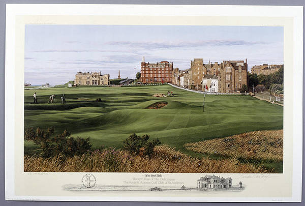Golf Course Photograph - The 17th Hole Of The Old Course, St by Heritage Images