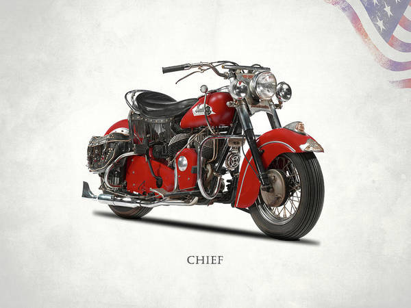 Chiefs Photograph - The 1953 Indian Chief by Mark Rogan