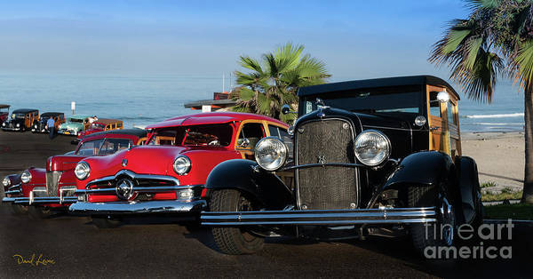 Photograph - The 2018 Wavecrest Woodie Fest In Encinitas, California  by David Levin