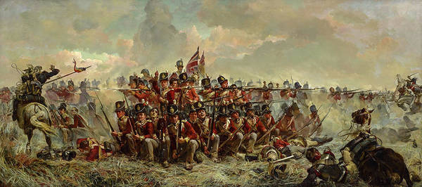 Wall Art - Painting - The 28th Regiment At Quatre Bras by Elizabeth Thompson