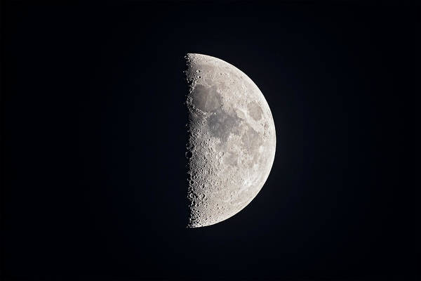 Wall Art - Photograph - The 7-day Old First Quarter Moon by Alan Dyer