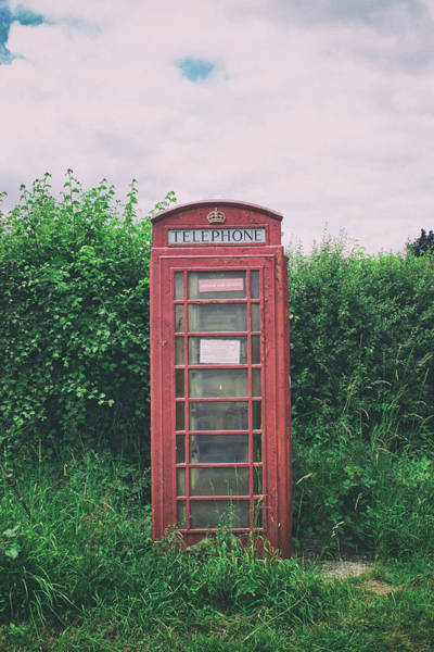 London Phone Booth Wall Art - Photograph - The Abandoned Phonebox by Martin Newman
