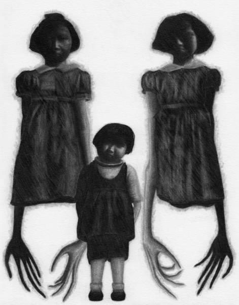 Drawing - The Abberant Sisters - Artwork by Ryan Nieves