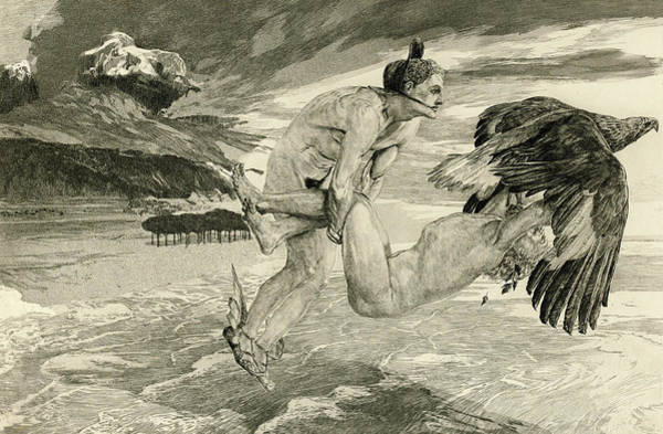 Liver Painting - The Abduction Of Prometheus, 1894 by Max Klinger