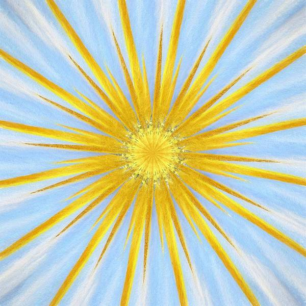 Wall Art - Mixed Media - The Abstract Sun by Amanda Lakey