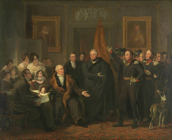 Painting - The Acceptance Of The High Reign By The Triumvirate In The Name Of The Prince Of Orange, November 21 by Jan Willem Pieneman
