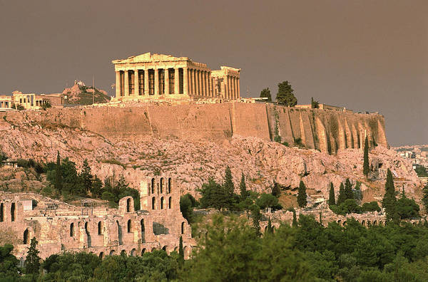 Ancient Greek Photograph - The Acropolis And Parthenon From by Lonely Planet