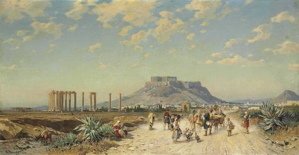 Wall Art - Painting - The Acropolis, Athens By Hermann David Solomon by Hermann David Solomon