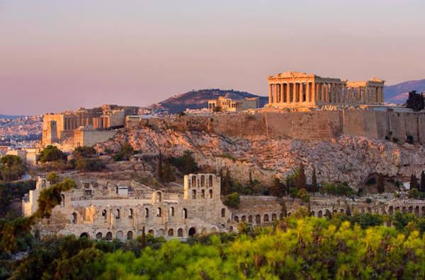 Ancient Greek Photograph - The Acropolis Of Athens by Scott E Barbour
