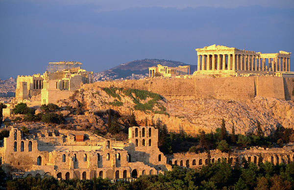 Greece Photograph - The Acropolis Taken From Phiopappos by John Elk Iii