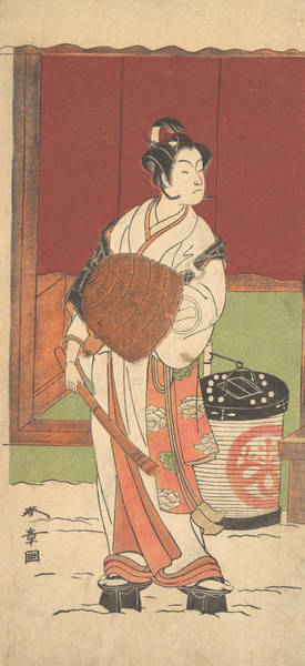 Relief - The Actor Ichikawa Monosuke II In The Role Of Daito-no-miya Disguised As A Komuso by Katsukawa Shunsho