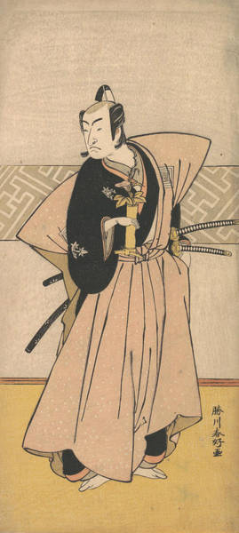 Relief - The Actor Ichikawa Omezo As A Samurai With Two Swords by Katsukawa Shunko