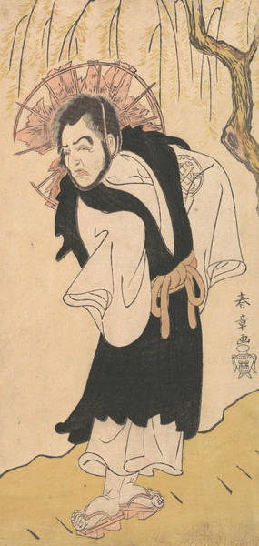 Relief - The Actor Nakamura Utaemon I As A Monk Under A Willow Tree by Katsukawa Shunsho